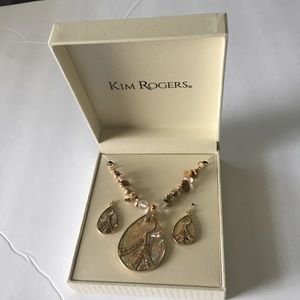 Kim Rogers Teardrop Necklace And Earring Set (NWT)